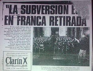 El 19 de abril de 1977 Jorge Videla encabezó una conferencia de prensa para blanquear la detención ilegal de los integrantes del Grupo Graiver. Ese mismo día