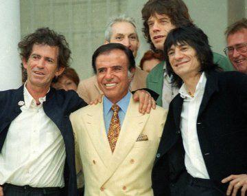 fotos. No existían las selfies, pero Menem protagonizó algo parecido. Rolling Stones