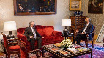 El presidente Alberto Fernández se reunió con su par portugués, Marcelo Rebelo de Sousa