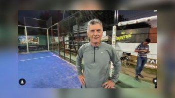 Macri jugó al paddle en Alta Gracia