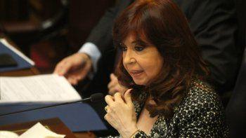 La presidenta del Senado, Cristina Fernández de Kirchner.