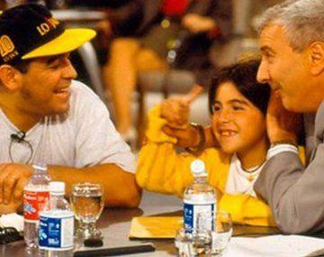 Maradona y Mauro Viale.