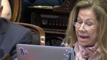 Graciela Camaño pidió pito y gorra para un diputado.