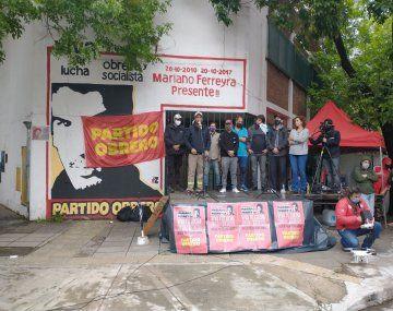 El Partido Obrero realizó un acto en Barracas a diez años del crimen de Mariano Ferreyra.