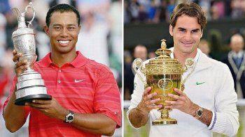 Tiger Woods y Roger Federer
