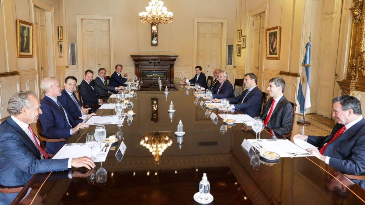 Cumbre de Alberto Fernández con empresarios en Casa Rosada