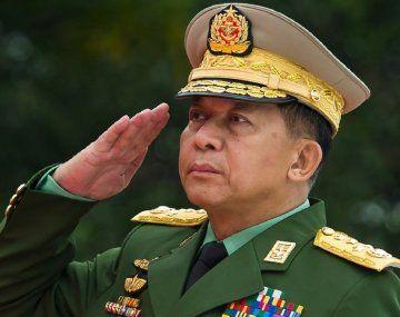 El jefe del Ejército de Myanmar, el general Min Aung Hlaing.