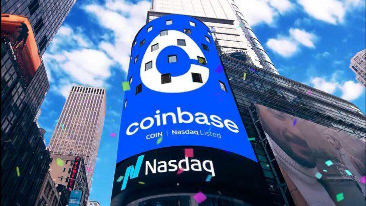 Coinbase se valorizó brevemente por encima de los u$s100.000 millones.