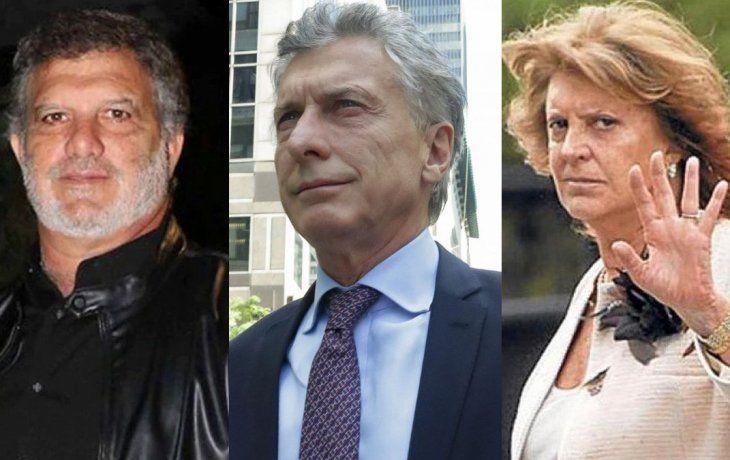 Gianfranco Macri, Mauricio Macri y Alicia Blanco Villegas.