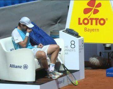 Desilusión. Guido Pella estaba en un buen nivel y se ilusionaba con seguir en el ATP 250 de Munich pero una lesión frenó su andar.