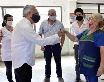 El intendente de Tigre,Julio Zamora, recorrió obras deinfraestructura escolar y revalorización urbana en El Talar y Don Torcuato