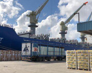Realizan un embarque histórico de cítricos rumbo a Europa y Rusia