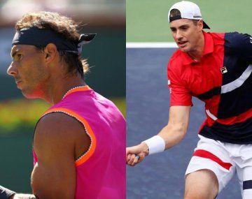 Nadal e Isner fueron demasiado para Schwartzman y Pella en Indian Wells.