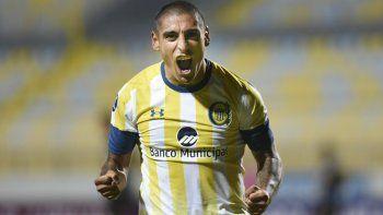 Diego Zabala consiguió la igualdad para Rosario Central que se volvió con un valioso punto de Chile.