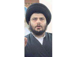 Moqtada al-Sadr, líder de la milicia chiita que «limpia» de sunitas partes de Irak.