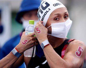Cecilia Biagioli terminó su quinto Juego Olímpico con la prueba de Aguas Abiertas.