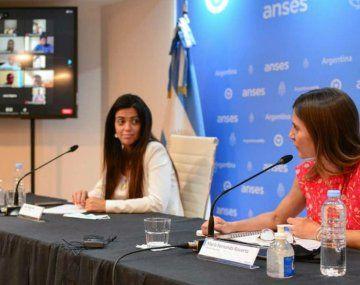 Luana Volnovich y Fernanda Raverta, titulares de PAMI y ANSES, respectivamente.