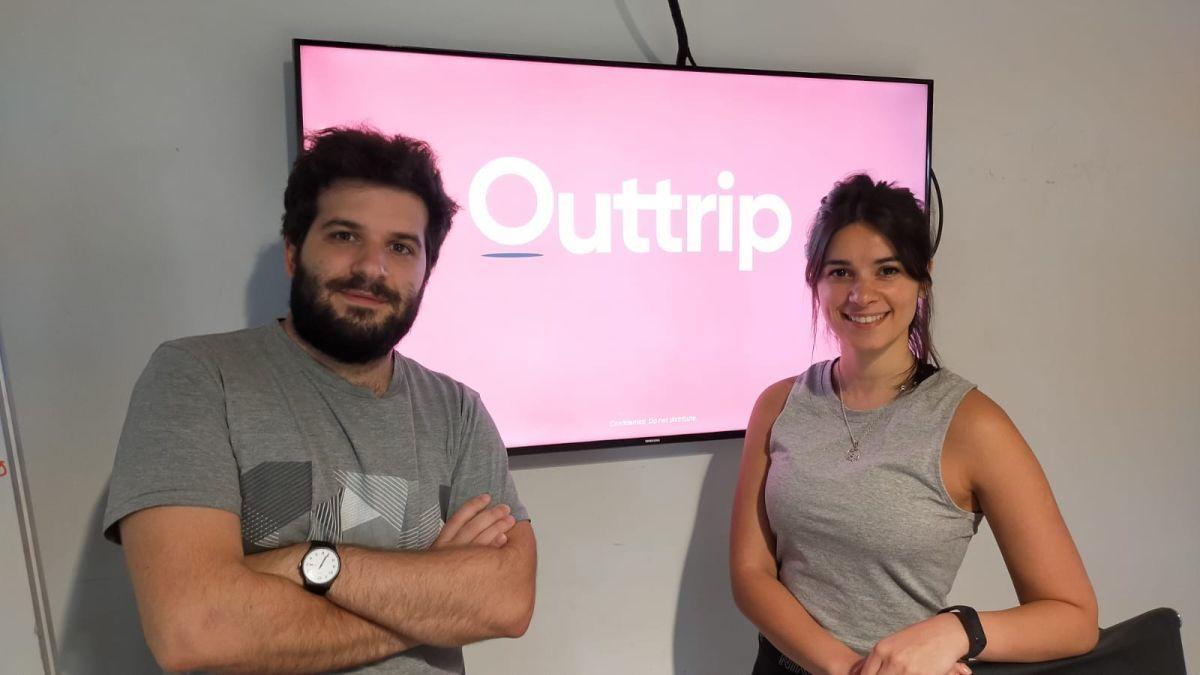 Gonzalo Rico y Liliana Barck, cofundadores de Outtrip.