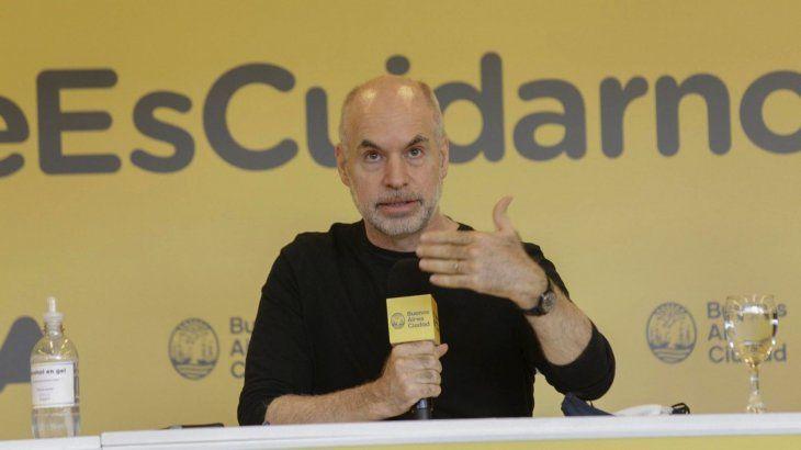 Horacio Rodríguez Larreta realiza anuncios del DISPO en la Ciudad.