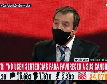 Martín Soria: Los jueces no pueden firmar fallos para favorecer a candidatos a presidentes
