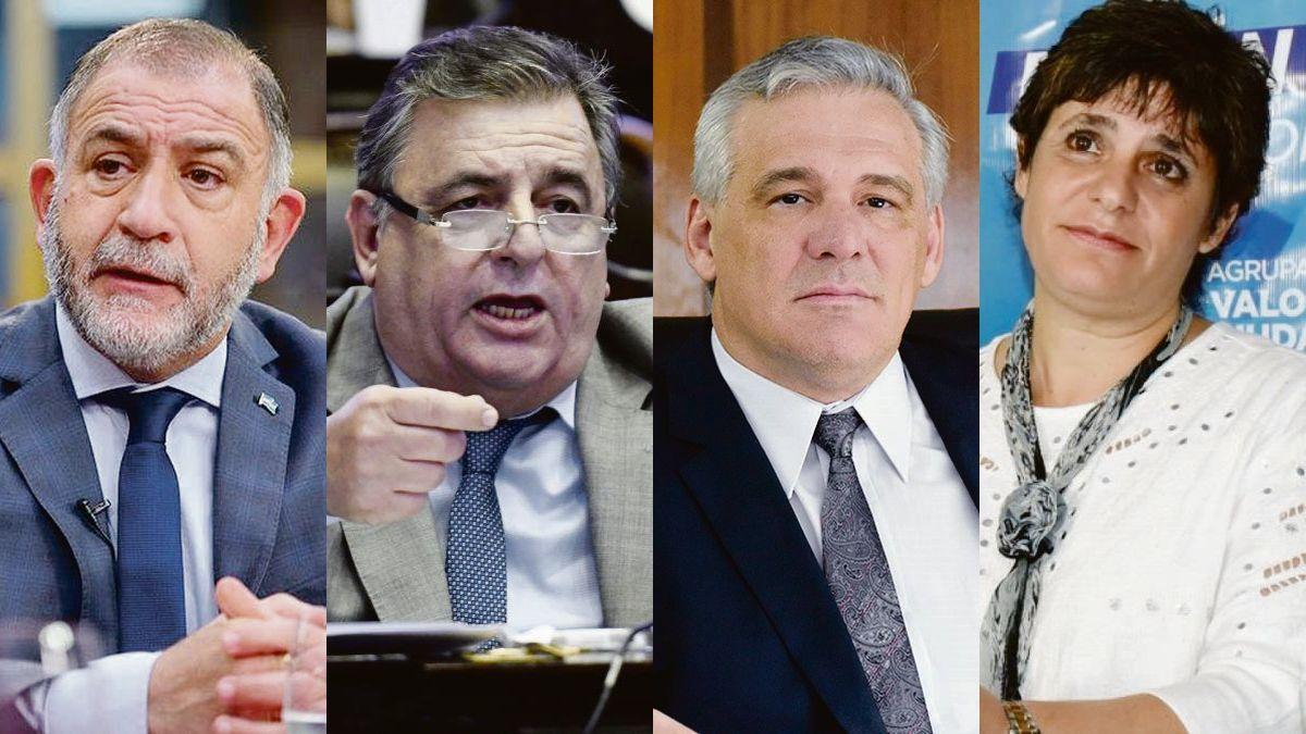 Luis Juez, Mario Negri, Fernando Carbajal y Gabriela Neme.