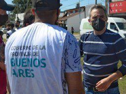 El Ministro de Desarrollo de la Comunidad de la provincia de Buenos Aires,Andrés Larroque.