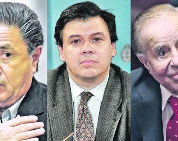 Eduardo Duhalde, Claudio Moroni y Carlos Menem.