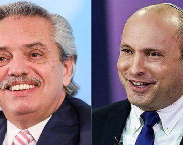 Alberto Fernández y Naftali Bennett.