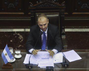 Martín Guzmán durante su exposición en la Cámara de Diputados esta semana.