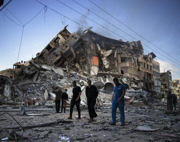 Israel bombardeó de forma incesante edificios en Gaza y causó más de 269 muertos.
