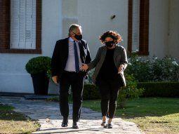 Alberto Fernández y la nueva ministra de Salud de la Nación, Carla Vizzoti.