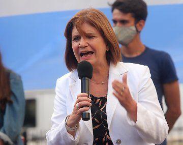 Patricia Bullrich volvió a criticar a Alberto Fernández
