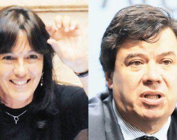 Vilma Ibarra y Claudio Moroni.