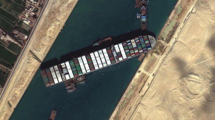 El Ever Given bloqueó durante casi una semana el Canal de Suez.