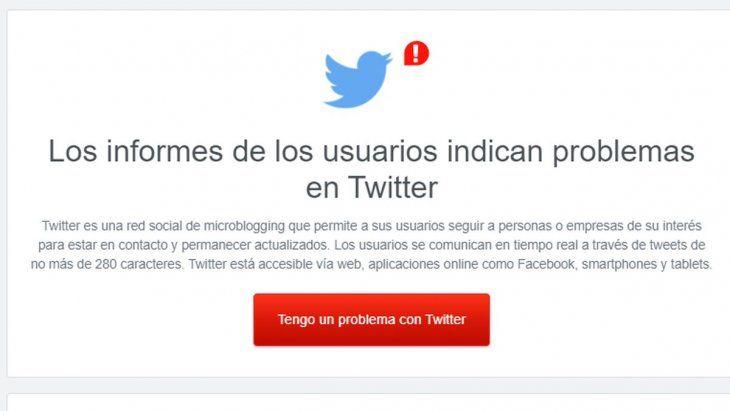 Falla total: se cayó Twitter