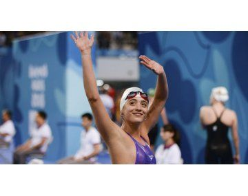 Delfina Pignatiello fue la primera nadadoraargentina en ganar tres medallas de oro en Juegos Panamericanos.