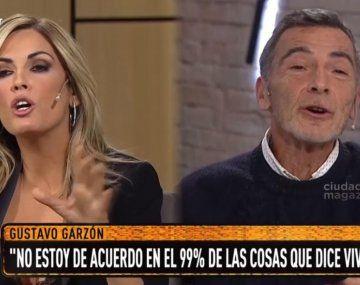 Fuerte cruce entre Gustavo Garzón y Viviana Canosa: Tenés una manera muy agresiva