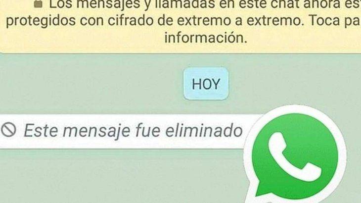 Lo que hay que saber antes de borrar un mensaje de WhatsApp