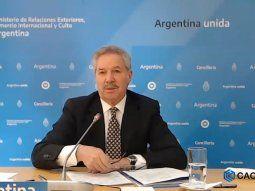 El Canciller Felipe Solá reiteró el reclamo de soberanía sobre las Islas Malvinas.