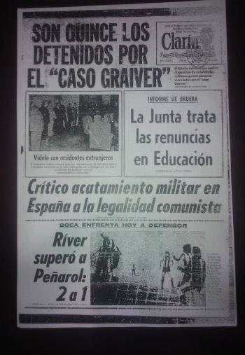 El 16 de abril de 1977 Clarín informó la detención de los integrantes del grupo Graiver