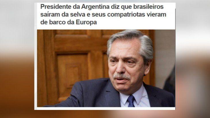 Una frase de Alberto Fernández se instaló en los portales de Brasil