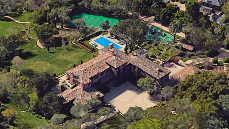The new home of Prince Harry and Meghan Markle in Montecito, California.