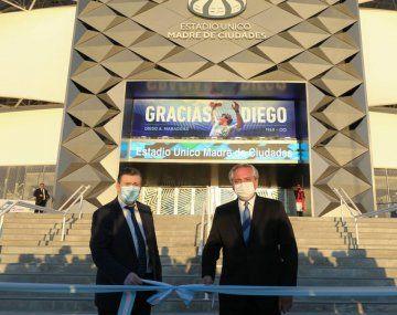 Alberto inauguró el estadio Madre de Ciudades en Santiago: Estamos generando igualdad