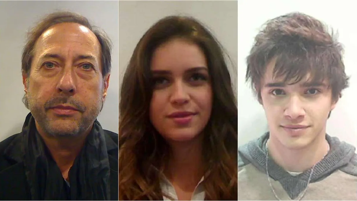 Guillermo Francella, Zaira Nara y Julián Serrano.