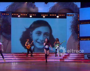 Incluyeron una foto de Ana Frank en Showmatch y se desató la polémica