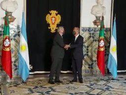 gira por europa dia 1: alberto fernandez se reune con el presidente de portugal