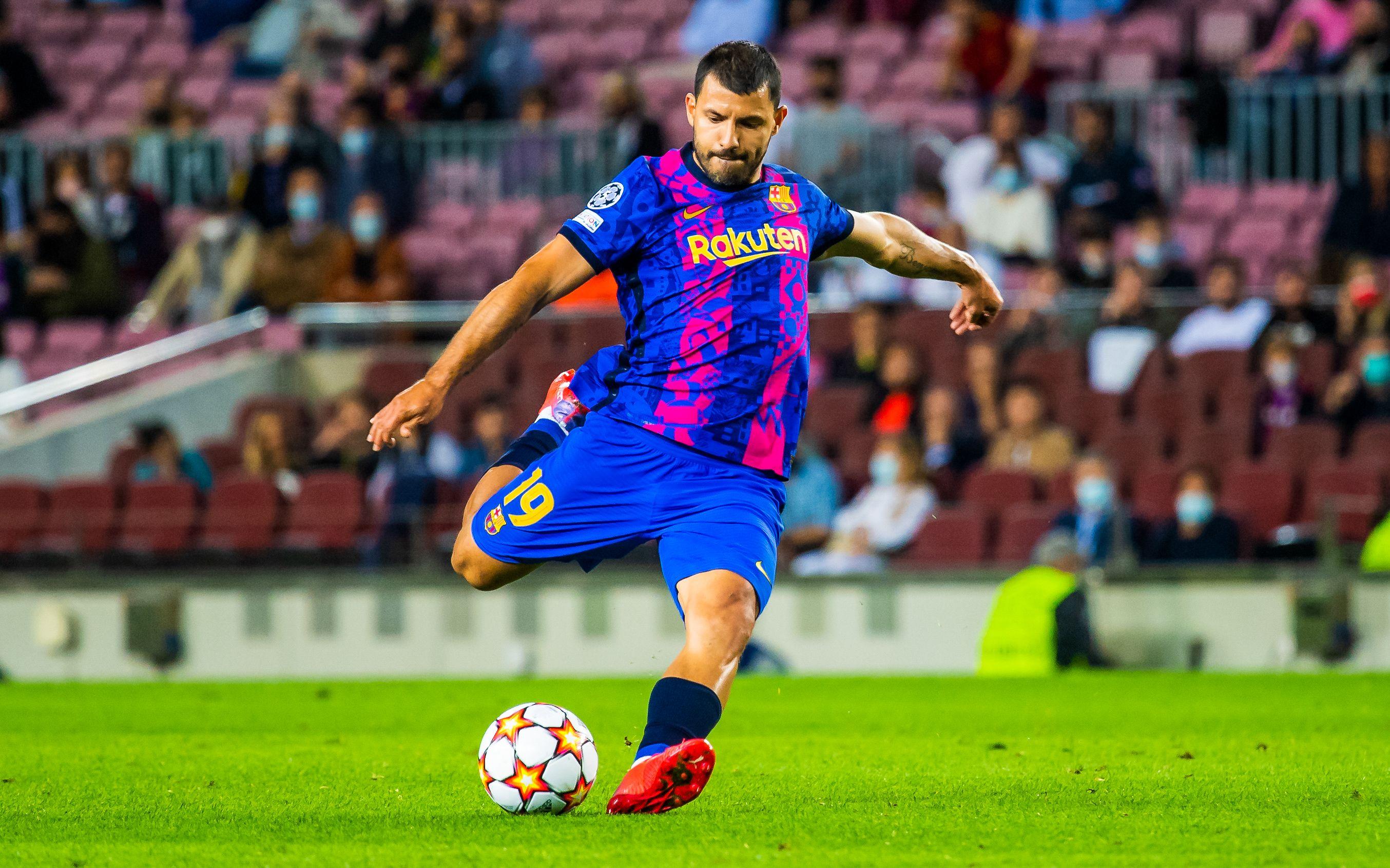 Agüero disputó su segundo partido en el Barcelona.