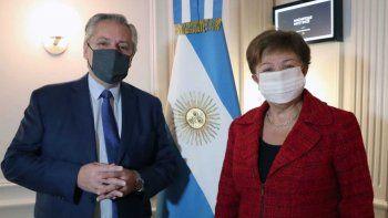 Alberto Fernández y Kristalina Georgieva (Foto de archivo).