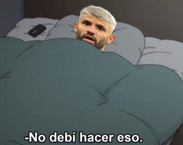 Sergio Agüero fue el eje de los memes por la salida de Lionel Messi de Barcelona.