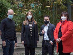 Rodríguez Larreta, Vidal, Tetaz y Oliveto, juntos en la primera foto de campaña.